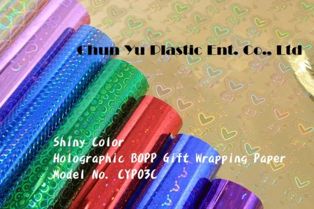 Color Printed Holographic Gift Wrapping Paper (OPP Type) - Color Printed Holographic Gift Wrapping Paper in Roll & Sheet