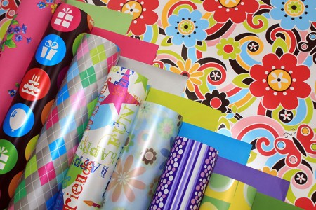Printed Pearl PP Synthetic Gift Wrapping Paper (Pearlised Giftwrap) - Printed Pearlised Gift Wrapping Paper in Roll & Sheet